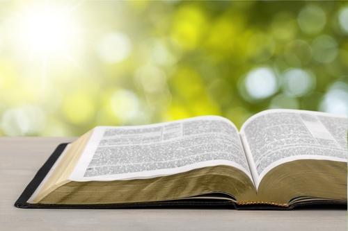 First Baptist Church Screven open Bible