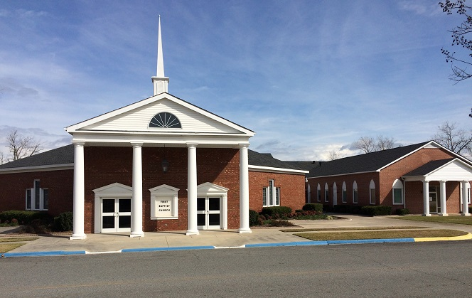 First Baptist Church Screven front of church building