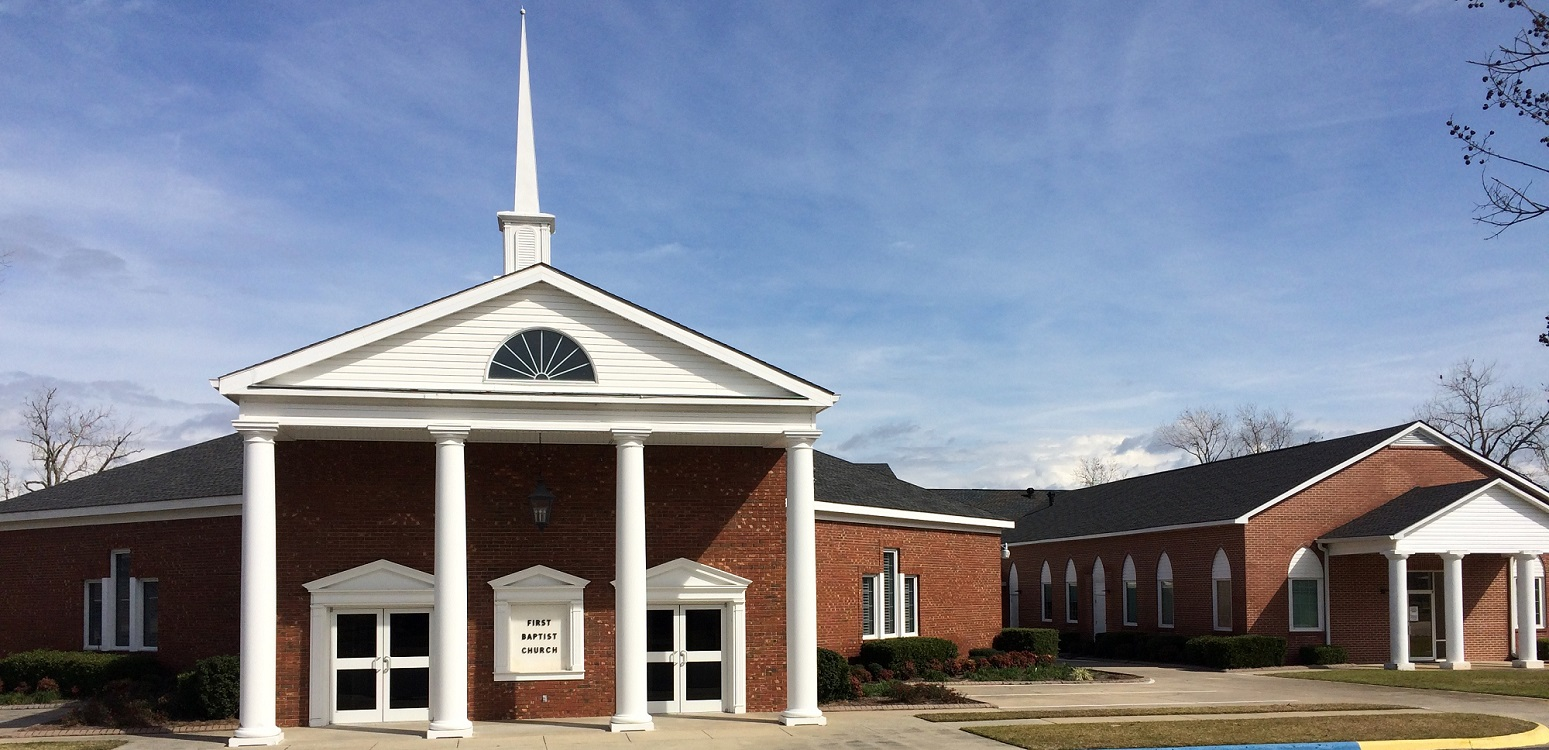 First Baptist Church Screven front of building