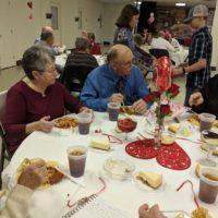 First Baptist Church Screven dinner together